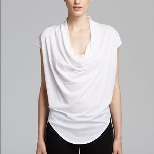 Helmet Lang | Feather Jersey Draped Neck White